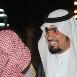 """بالصور.. قاطع الفتنان يحتفل بزواج ابنه """"أحمد"""" بقصر الوفاء للأحتفالات بمدينة الأجفر"""