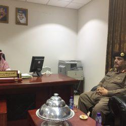 بالصور رئيس مركز الأجفر يستقبل العميد علي العجيمي بمقر الاماره
