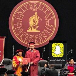 درجة الماجستير لـ عبدالعزيز السحلي من جامعة tuskegee-university في الولايات المتحدة الامريكية