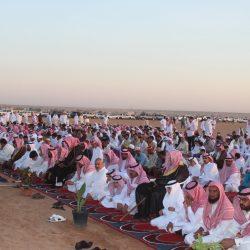 بالصور صلاة عيد الاضحى المبارك بمدينة الأجفر
