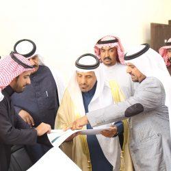 الهديني يستقبل محافظ الشنان بمقر بلدية فيد الجديد