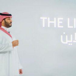 """سمو ولي العهد يطلق مشروع """"ذا لاين"""" في نيوم"""