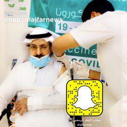 """شيخ قبيلة الويبار """" بن نهير """" يتلقى الجرعة الأولى من لقاح فيروس كورونا """"كوفيد-19″"""